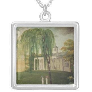 President George Washington Square Pendant Necklace