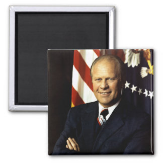 President Gerald Ford Portrait 2 Inch Square Magnet