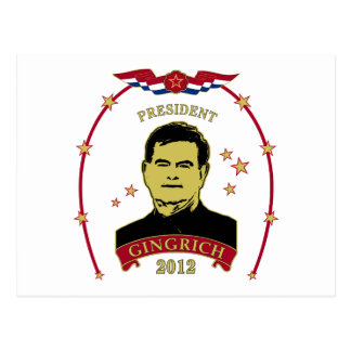 President Gingrich 2012 Postcard