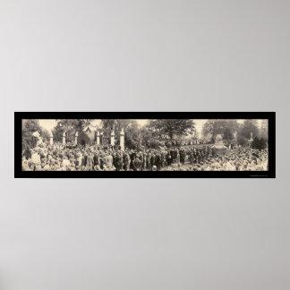 President Harding Funeral Photo 1923 Poster