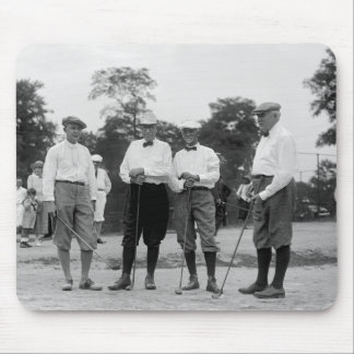 President Harding Golf Foursome, 1920s Mouse Pad