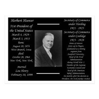 President Herbert Hoover Postcard