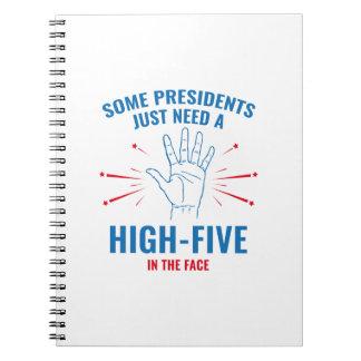 President High-Five Face Notebook