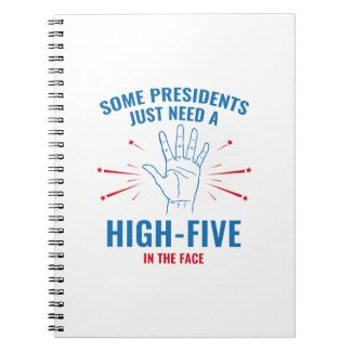 President High-Five Face Spiral Notebook
