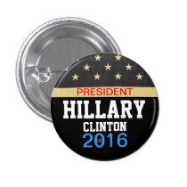 President Hillary Clinton 2016 1 Inch Round Button
