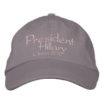 President Hillary Clinton 2016 Embroidered Baseball Cap