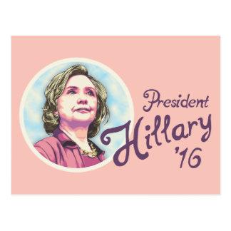 President Hillary Postcard