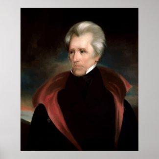 President Jackson Painting print