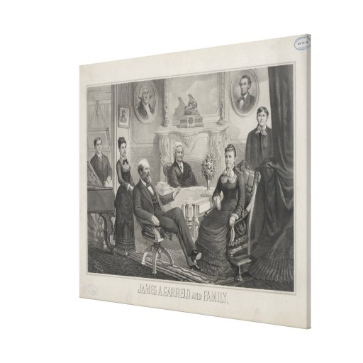PRESIDENT JAMES ABRAM GARFIELD and family Stretched Canvas Prints