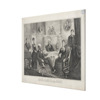 PRESIDENT JAMES ABRAM GARFIELD and family Canvas Print