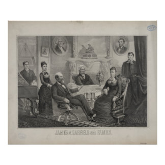 PRESIDENT JAMES ABRAM GARFIELD and family Print