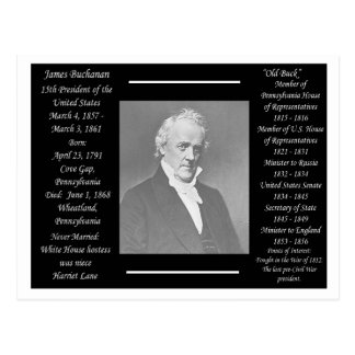 President James Buchanan Postcard