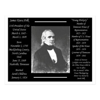 President James K Polk Postcard