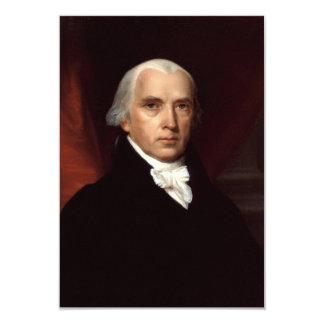 President James Madison Portrait by John Vanderlyn 3.5x5 Paper Invitation Card
