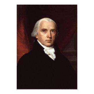 President James Madison Portrait by John Vanderlyn 5x7 Paper Invitation Card