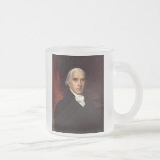 President James Madison Portrait by John Vanderlyn Frosted Glass Coffee Mug