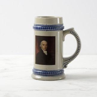 President James Madison Portrait by John Vanderlyn 18 Oz Beer Stein