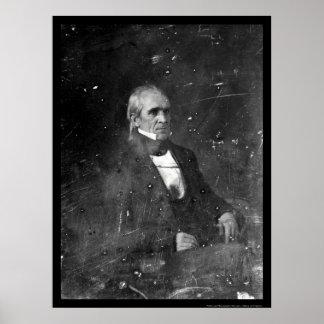 President James Polk Daguerreotype 1849 Poster