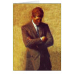 President John F Kennedy Fractal Portrait Picture Greeting Card