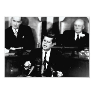 President John F. Kennedy Men to the Moon Speech Card