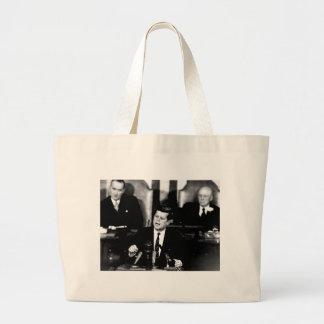 President John F. Kennedy Men to the Moon Speech Large Tote Bag