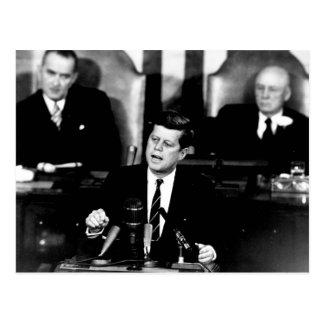 President John F. Kennedy Men to the Moon Speech Postcard