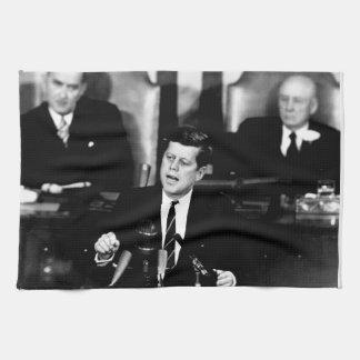 President John F. Kennedy Men to the Moon Speech Towels
