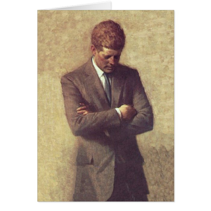 President John F Kennedy Official Portrait Card