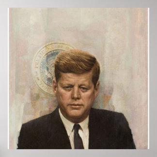 President John Fitzgerald Kennedy Poster