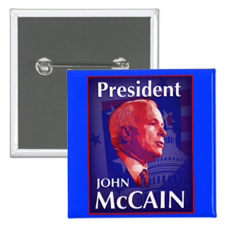 President John McCain Button