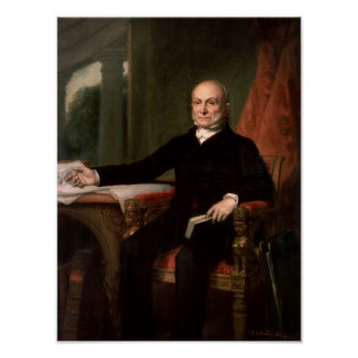 President John Quincy Adams Painting Poster