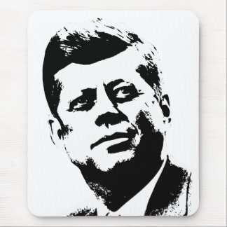 President Kennedy -- Black and White Mouse Pad