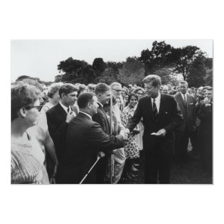 President Kennedy Greets Peace Corps Volunteers 5x7 Paper Invitation Card