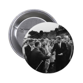 President Kennedy Greets Peace Corps Volunteers Pinback Buttons
