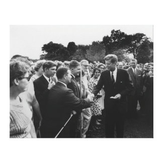President Kennedy Greets Peace Corps Volunteers Canvas Print