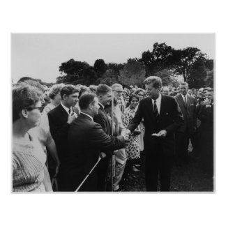 President Kennedy Greets Peace Corps Volunteers Poster