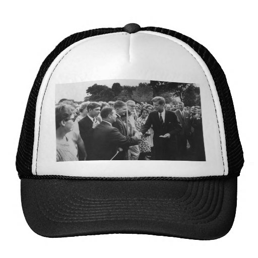 President Kennedy Greets Peace Corps Volunteers Trucker Hat