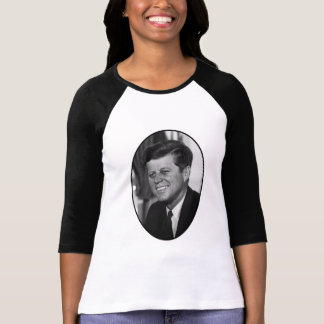 President Kennedy In Black And White T-Shirt