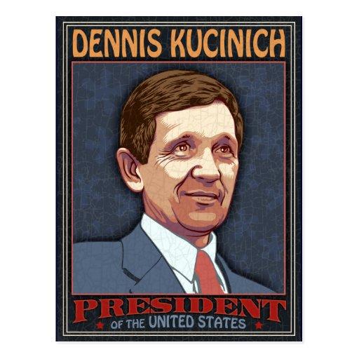 President Kucinich Post Card