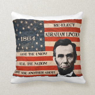 President Lincoln 1864 Campaign Throw Pillow
