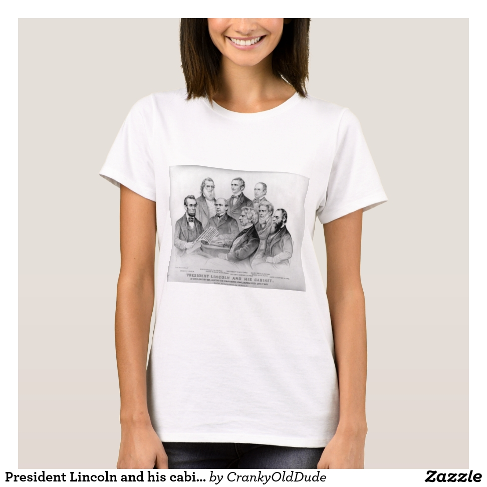 President Lincoln and his cabinet - 1876 T-Shirt - Best Selling Long-Sleeve Street Fashion Shirt Designs