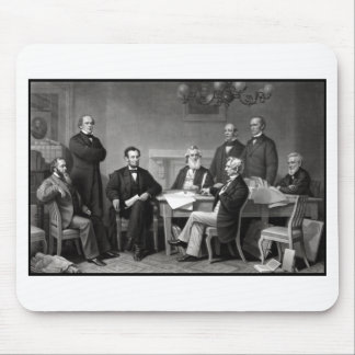 President Lincoln and His Cabinet Mouse Pad