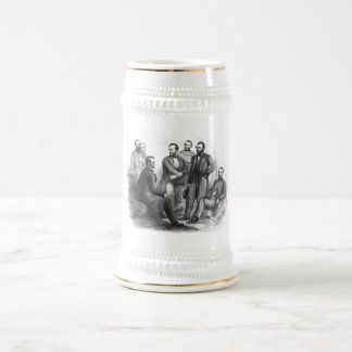 President Lincoln and His Commanders 18 Oz Beer Stein