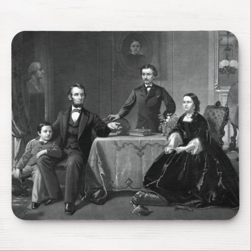 President Lincoln And His Family Mousepad