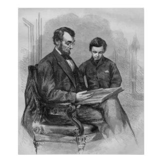 President Lincoln and His Son Posters