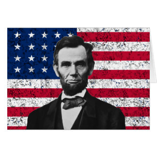 President Lincoln and The American Flag Greeting Card