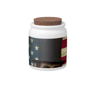 president lincoln candy jars