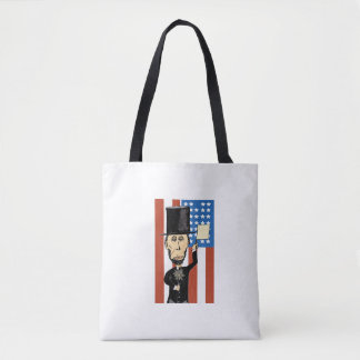 President Lincoln Custom All-Over-Print Tote Bag