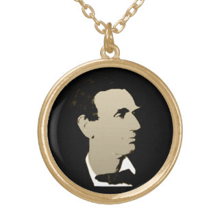 President Lincoln Gold Plated Necklace