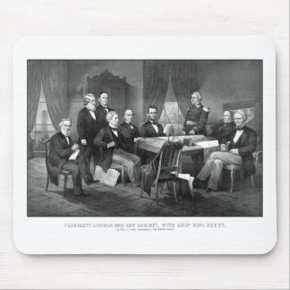 President Lincoln, His Cabinet, and General Scott Mouse Pad